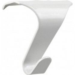 gallery hook white 18 mm. maximaal 12,5 kg excl. vat 0.42 €.